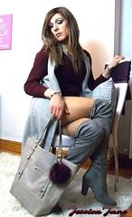 Maroon & Grey (jessicajane9) Tags: boots transvestite cd lgbt crossdresser tgurl travesti crossdressing feminization xdress tranny tv crossdress m2f trans tg transgender tgirl