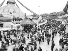 _1060268 (ernsttromp) Tags: nepal olympus omd em10 918mmf456 m43 mft mirrorless kathmandu boudhanath boudha buddhism people 2018 motion monochrome bw blackandwhite religion microfourthirds stupa mzuiko 4x3 urban city street streetlife