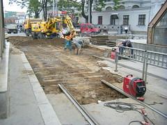 Track work in Brno, outside main rail station (johnzebedee) Tags: track tramtrack tramway brno czechrepublic johnzebedee