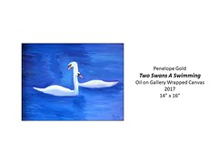 """Two Swans A Swimming • <a style=""""font-size:0.8em;"""" href=""""https://www.flickr.com/photos/124378531@N04/39221154635/"""" target=""""_blank"""">View on Flickr</a>"""