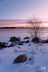The Violet Shades of Dawn (Thousand Word Images by Dustin Abbott) Tags: 2018 sonya7riii sunrise ilce7rm3 dawn review lens sony thousandwordimages mirrorless ottawariver subzero winter rocks dustinabbott frozen beautiful petawawa dustinabbottnet photography sonya7r3 ontario canada fullframe sonyfe24105mmf4goss pembroke photodujour ca