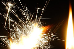 Dandilion Sparks will fly (Frustrated; can't upload!) Tags: macromondays flame sparkler