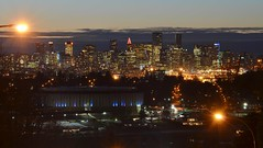 Vancouver skyline from Boundary Road and Cambridge Street (FFWoodycooks) Tags: north burnaby vancouver border skyline pacific coliseum harbour centre christmas