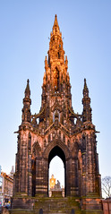 Sir Walter Scott monument lit by the evening sun (rustyruth1959) Tags: nikon nikond5600 tamron16300mm uk scotland edinburgh princessstreetgardens monument sirwalterscottmonument sirwalterscott waverley binnysandstone marble structure tower design georgemeiklekemp johnsteell dog carraramarble statue marblestatue outdoors victoriangothic author architecture sky city eveningsun