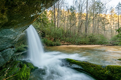 Raper Creek Falls Sunset (Jon Ariel) Tags: waterfall northgeorgia georgia ga water sunset winter