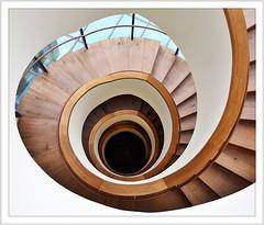 downstairs (#explore) (Norbert Kaiser) Tags: treppenhaus treppe abwärts architektur modernearchitektur architecture bauwerk erzgebirge oremountains krušnéhory museum annabergbuchholz manufakturderträume