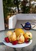 Ripe guava (andrius_) Tags: stilllife food teapot guava terrace sunshine