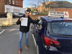Congratulations Jesús A Barreto Chaibán passing his driving test on his first attempt with only 3 minor faults.  www.leosdrivingschool.com