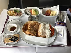 Royal silk meals (Khunpaul3) Tags: thai airways b777200er hstjt tg621 aircraft aeroplane airplane aviation boeing royal silk class avgeek lunch