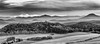 Bergpanorama im Elbsandsteingebirge - mountain panorama at the Elbe Sandstone mountains (ralfkai41) Tags: ngc nebel monochrom nature mist mountains berge panorama wald natur blackwhite panoramic schwarzweis sw landscape fog bw elbesandstonemountains elbsandsteingebirge landschaft