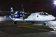 VulkanAir_AN26B_URCQD_ANR_FEB18 (Yannick VP) Tags: charter 2018 february longexposure nightshot apron airside eu europe bel be belgium ebaw anr airport antwerp urcqd an26b curl an26 antonov vka vulkanair airliner classic turboprop propliner prop airplane utility transport freight cargo commercial civil aircraft