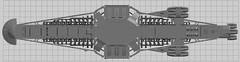 Disruptor Skeleton WIP Top (EliteGuard01) Tags: lego ldd legodigitaldesigner disruptorclasscarrier shiptember moc wip skeleton frame superstrcuture triangles ship spaceship rha concept structure