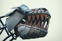 grandma, what big teeth you have (annapolis_rose) Tags: dtes streetart metalart rusty teeth vancouver
