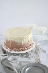 White Russian Cake (Layer Cake Parade) Tags: marblecake whiterussian cocktail chocolatecake vanillacake dessert foodphotography neutral sweets layer cake layercake