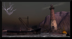 ~ Arranmore ~ (♥ Second Life) Tags: second life destinations travel guide arranmore island hp lovecraft creepy vintage dystopian wastelands silent hill carnival neko abandoned city urban decay romantic public hangout survival horror roleplay photography photogenic bloggers boats cars lighthouse dock