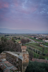 Looking back (Marco Petretti) Tags: tower fortification brunelleschi sunset tuscany medieval