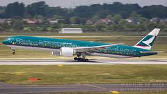 B-KPB (tynophotography) Tags: cathay pacific thespiritofhongkong bkpb livery 777300er 777 77w dus dusseldorf eddf boeing