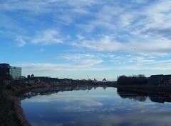 Cloud Reflections, River Dee, Aberdeen, Feb 2018 (allanmaciver) Tags: cloud reflections river dee aberdeen city north east coast silver granite blue shades shadows calm bridge wide curve allanmaciver