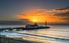 Bournemouth Pier Sunrise (nicklucas2) Tags: pier bournemouth seascape beach isleofwight sea seaside seagull sun wave sunrise cloud