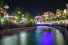 Global Village Dubai (Monia Allouche) Tags: globalvillage dubai longexposure canal bridge lights night city colors uae gulf architecture
