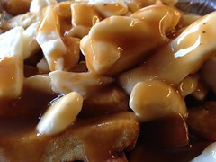 Poutine Montreal Style ... #MacroMondays (Mr. Happy Face - Peace :)) Tags: gravy cheese potatoe chips marcomondays hmm 7dwf foodart2018