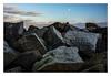 Moon stones (bavare51) Tags: thissow steinmole steine mond wolken sky südperd rügen
