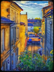 The alley.... (Sherrianne100) Tags: streetscene golden picturesque quaint alley bourgfrance aquitainefrance france
