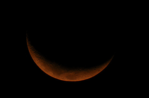Crescent moon - 21st January 2018