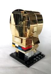 C-3PO (free instructions available) (tomvanhaelen) Tags: lego star wars c3po custom brickheadz moc