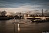 Paris under the waters (karmajigme) Tags: water flood fleuve river crue bridge paris seine travel clouds france eiffeltower city toureiffel sky boats bateaux nikon