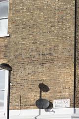Lowman Road, N7 (Tetramesh) Tags: tetramesh london england britain greatbritain gb unitedkingdom uk localhistory nowandthen thenandnow pastandpresent oldlondon lostlondon presentandpast londonpastandpresent londonnowandthen londonthenandnow londonpast socialhistory uklocalhistory londonlocalhistory ghostsign advertisement advertising