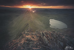 Red Tarn from Helvellyn (►►M J Turner Photography ◄◄) Tags: helvellyn redtarn lakedistrict cumbria england unitedkingdom unesco worldheritagesite unescoworldheritagesite sunrise morning dawn