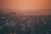 Rosy Sunsets (freyavev) Tags: sunset rosy light hills houses stuttgart killesberg badenwürttemberg germany deutschland vsco telelens zoom atmosphere mikasniftyfifty canon canon700d