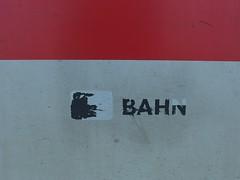 Even Dogs ride the train (mkorsakov) Tags: münster hbf bahnhof mainstation train zug ic intercity pictogram piktogramm rorschach hund dog minimal