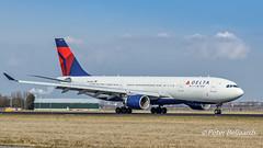 N861NW   Airbus A330-200 - Delta Air Lines (Peter Beljaards) Tags: aviationphotography schiphol amsterdam n861nw deltaairlines airbusa330200 a330 airbus rwy18r nikon ams eham polderbaan