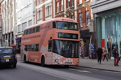 IMGP7541 (Steve Guess) Tags: newoxfordstreet tottenhamcourtroad charingcrossroad london england gb uk bloomsbury centrepoint bus tfl nbfl nb4l newbusforlondon newroutemaster borismaster borisbus bumble advert united ratp
