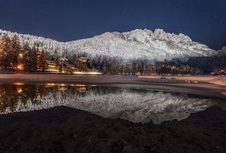 Lake Jasna on a winter night