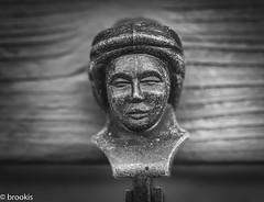 Latch On (brookis-photography) Tags: fasteners macromondays head latch shutter blackandwhite