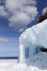 Like Greek Columns (Note-ables by Lynn) Tags: winter winterlandscape brucepeninsulanationalpark brucecounty ice snow georgianbay
