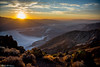 Sunset over Death Valley (michael.stinson329) Tags: landscape sunset sky mountain salt flats death valley park parks national summer heat hot sweat dry desert california blue nature light yellow evening hike hiking clouds composition scenic travel photography travelphotography