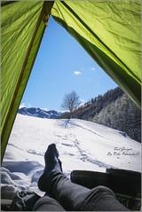 Nice view from my Tent (koba.petriashvili) Tags: camping hiking sunny travel georgia photography