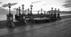 Llandudno Bandstand - Mono (wontolla1 (Septuagenarian)) Tags: llandudno bandstand band stand pier prom promenade sea side seaside north wales