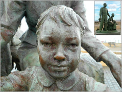 Girl from a Sculpture (Inset Photo) (** Janets Photos **) Tags: uk hull rivers docks history sculptures statues closeups macro