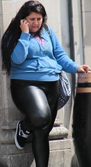Leather leggings (Shiny street) Tags: shiny leather wetlook nylon pantyhose spandex satin