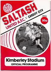 SALTASH UNITED v CARDIFF CITY [1979-80] (bullfield) Tags: saltash cornwall england cardiff wales