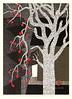 Japanese persimmon (Japanese Flower and Bird Art) Tags: flower persimmon diospyros kaki ebenaceae kiyoshi saito modern woodblock print japan japanese art readercollection