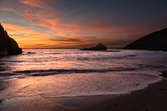 Sunset On Pfeiffer Beach (chasingthelight10) Tags: events photography travel landscapes beaches nature ocean rockformations sunrise sunrises places california pebblebeach bigsur