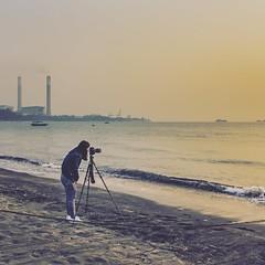 龍鼓灘 (猫之瑪姫) Tags: 龍鼓灘 lungkwutan 屯門 海灘 日落 香港 sunset landscape beach seascape nikon hongkong