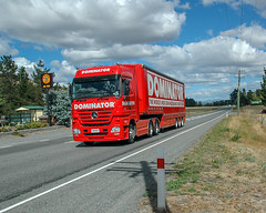 NZ Road Transport (tramsteer) Tags: tramsteer newzealand canterbury road transport trailer speights pub clouds stepframe 12mttrailer red