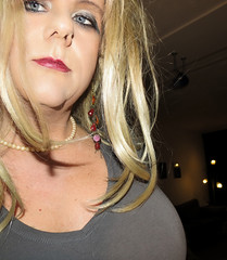 How close can you get.... (Irene Nyman) Tags: irenenyman dutch crossdress crossdresser irene nyman tranny tgirl transgirl blueeyes cutie babe blonde xdresser mtf transvestite cute holland makeup portrait travestiet travestie xdress cd tv closeup earrings pearlnecklace lips selfie